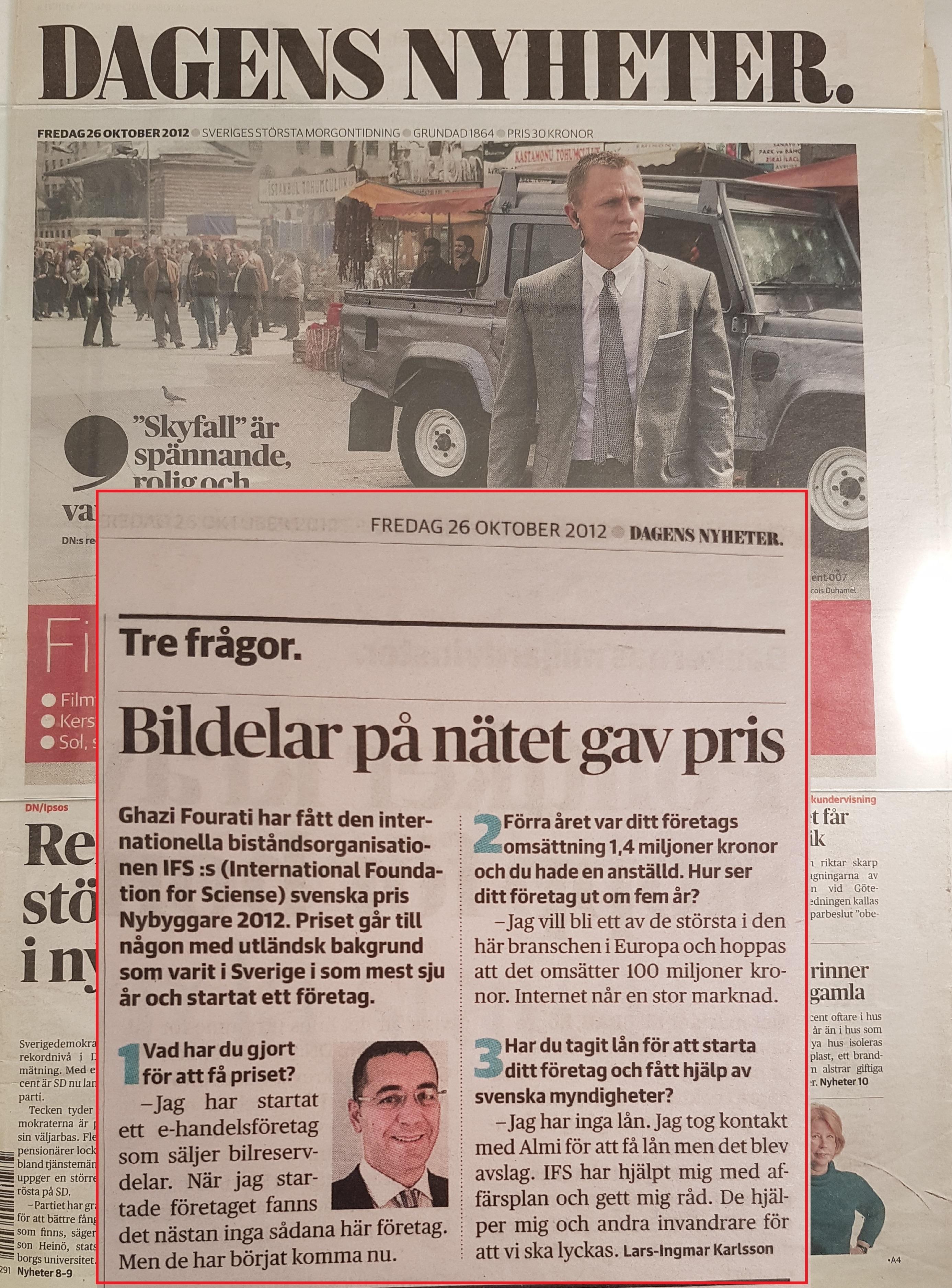 Dagens Nyheter Ghazi Fourati
